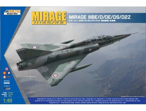 Kinetic Mirage IIIBE/D/DE/DS/D2Z 1:48 (48054)
