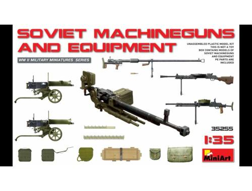 Miniart Soviet Machineguns   Equipment 1:35 (35255)