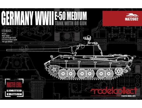Modelcollect Germany E-50 Medium Tank with 88Gun 1:72 (MA72002)