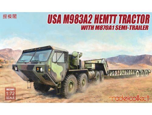 Modelcollect USA M983A2 HEMTT Tractor   M870A1 1:72 (UA72083)