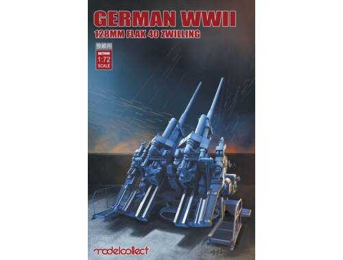 Modelcollect German WWII 128mm FLAK 40 ZWILLING 1:72 (UA72098)