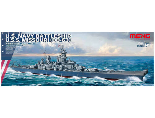 Meng U.S. Navy Battleship U.S.S. Missouri (BB-63) 1:700 (PS-004)