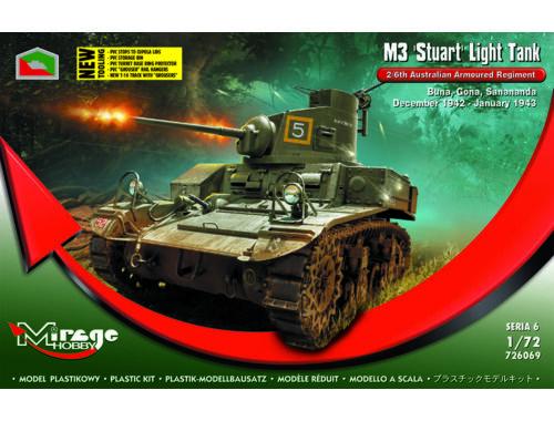 Mirage Hobby M3 STUART Light Tank 2/6th Buna,Gona,Dec.42 1:72 (726069)
