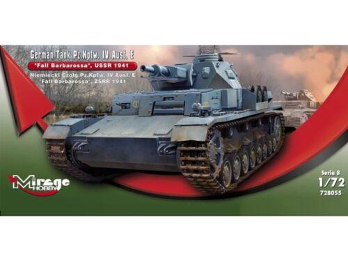 Mirage Hobby German Tank Pz.Kpfw.IV Ausf. E Fall Barbarossa USSR 1941 1:72 (728055)