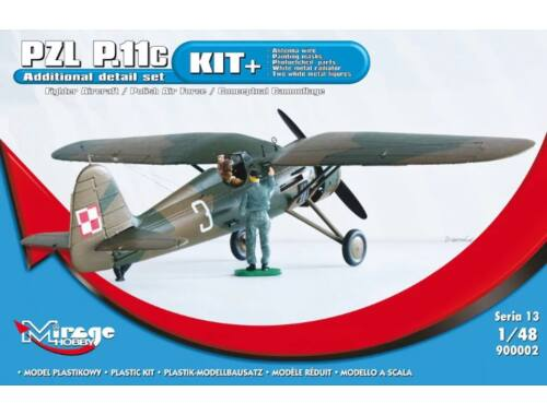 Mirage Hobby PZL P.11c Fighter Aircraft Polish Air Force (KIT ) 1:48 (900002)