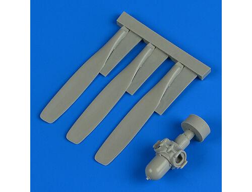 """Quickboost T-28 Trojan propeller """"A"""" for Kitty Hawk 1:32 (32188)"""