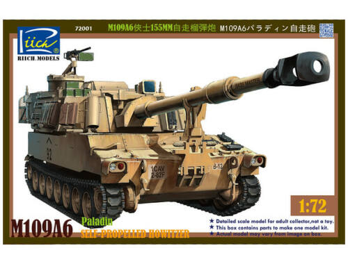 Riich M109A6 Paladin Self-Propelled Howitzer 1:72 (RT72001)