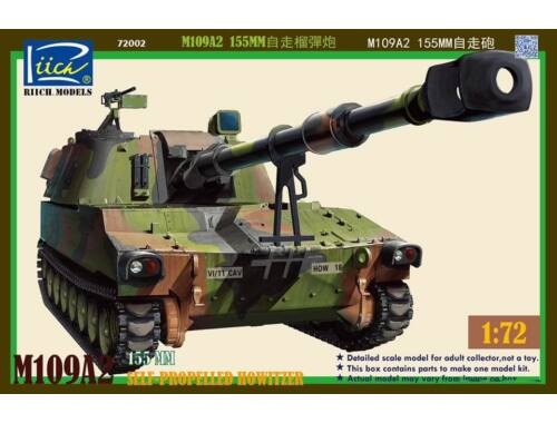 Riich M109A2 155MM Self-Propelled Howitzer 1:72 (RT72002)