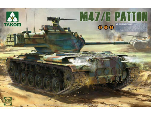 Takom US Medium Tank M47/G 2 in 1 1:35 (2070)