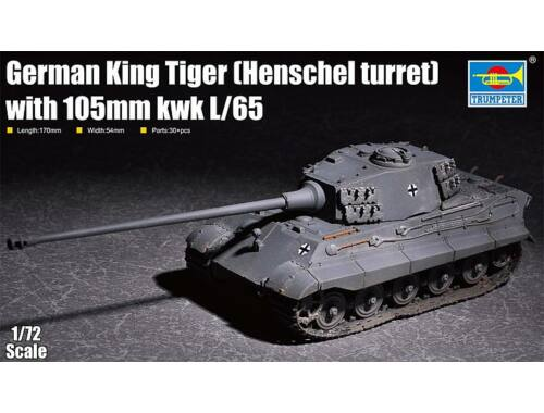 Trumpeter King Tiger(Henschel turret) with 105mm kWh L/65 1:72 (07160)