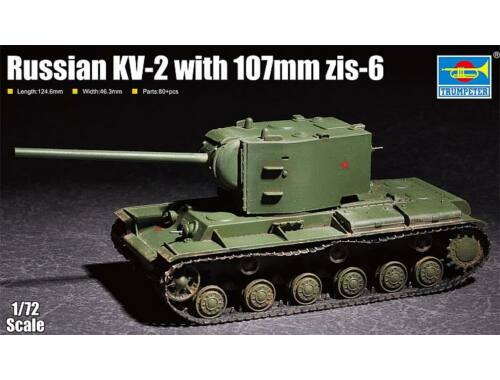 Trumpeter Russian KV-2 with 107mm zis-6 1:72 (7162)