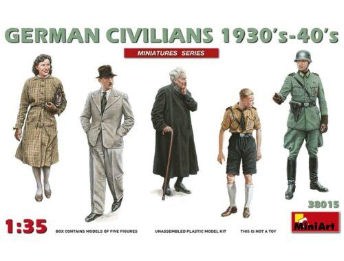 Miniart German Civilians 1930'-40' 1:35 (38015)