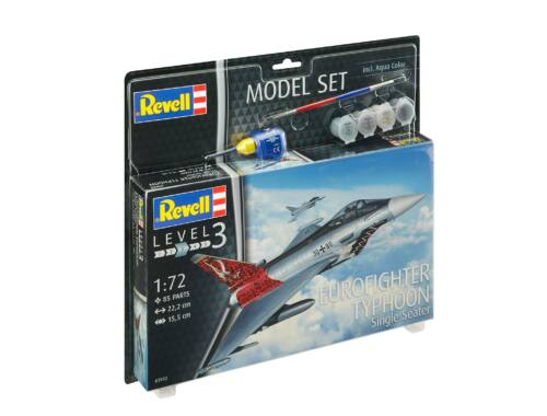 Revell Model Set Eurofighter Typhoon/Single Seater/ 1:72 (63952)