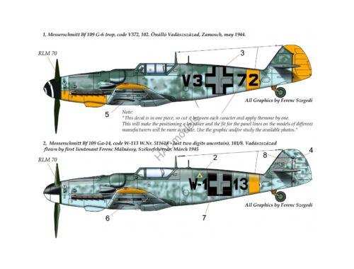 HADmodels Me Bf109 G-14/G-g Trop 1:72 matrica (72177)