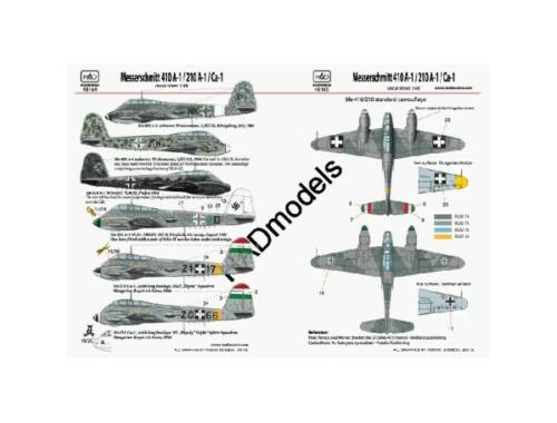 HADmodels Me 210/410 1:72 matrica (48169)