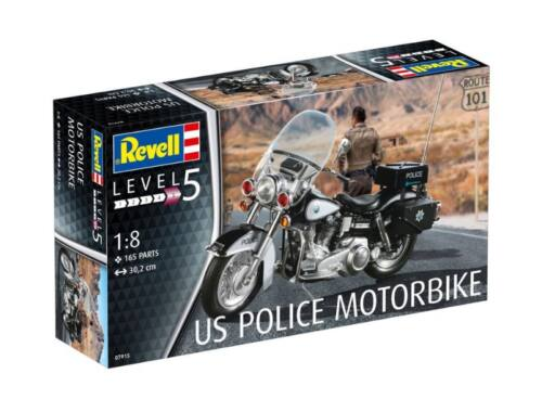 Revell US Police Motorbike 1:8 (7915)