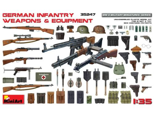 Miniart German Infantry Weapons   Equipment 1:35 (35247)