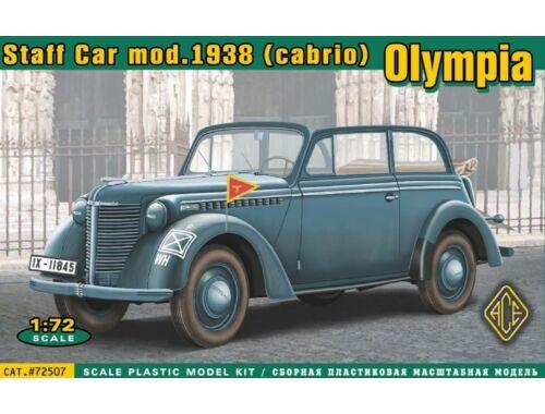 ACE Olympia cabrio staff car,model 1938 1:72 (72507)