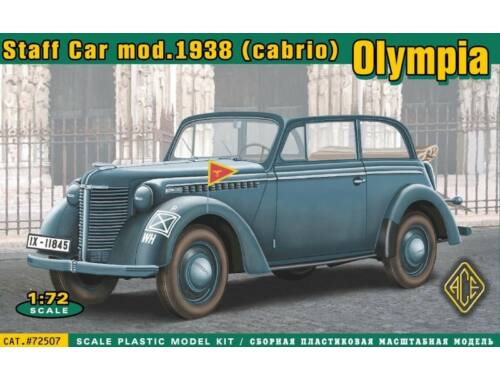 ACE Olympia cabrio staff car,model 1938 1:72 (72507)