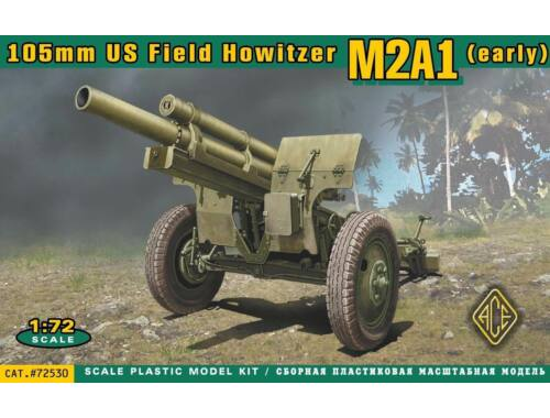 ACE US 105mm howitzer M2A1 w:M2 gun carriage 1:72 (72530)