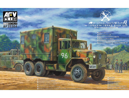 AFV Club M109A3 VAN SHOP (Van body with internal structure) 1:35 (AF35304)