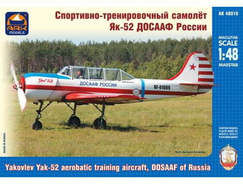 ARK Model Yakovlev Yak-52 aerobatic training aircr DOSAAF of Ru 1:48 (48016)