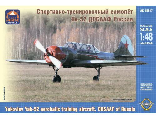 "ARK Model Yakovlev Yak-52""MAESTRO""aerobatic traini aircraft 1:48 (48017)"