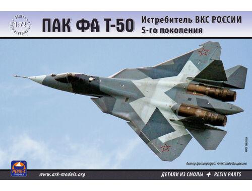 ARK Model PAK FA T-50 Russian Aerospace Forces 5th-generation fig 1:72 (72036)