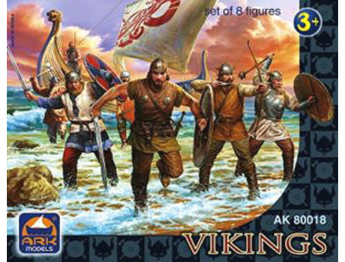 ARK Model Vikings, set of 8 figures 1:32 (80018)