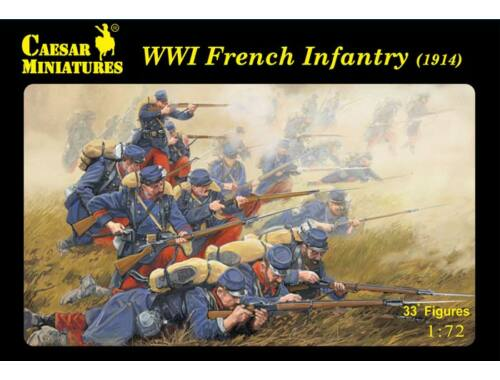 Caesar WWI French Infantry (1914) 1:72 (H034)