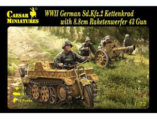 Caesar Sd.Kfz.2 Kettenkrad w.8.8cm Raketenwerfer 43 Gun 1:72 (H096)