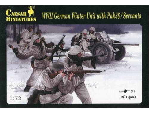 Caesar Winter Unit with Pak36 / Servants 1:72 (H097)