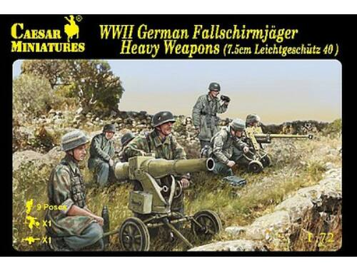 Caesar Fallschirmjager Heavy Weapon (7.5cm Leichtgeschutz 40) 1:72 (H098)
