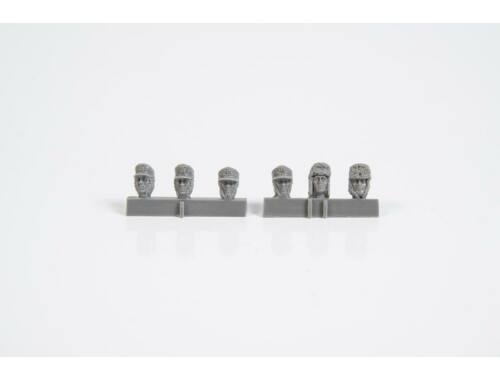 CMK 1/35 Heads of German WW2 Infantry Troops with Winter Headwear (6 pcs) 1:35 (F35336)