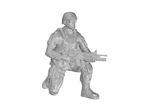 CMK 1/48 Kneeling Soldier (on right knee), US Army Infantry Squad 2nd Division 1:48 (F48331)