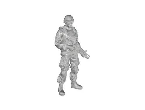 CMK 1/48 Commanding Officer (standing), US Army Infantry Squad 2nd Division 1:48 (F48333)