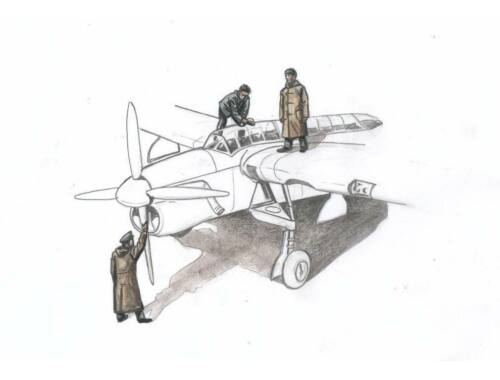 CMK Barracuda Mechanics (3 figures, aboard carrier w/ raincoat) for Sp. Hobby kit 1:72 (F72330)
