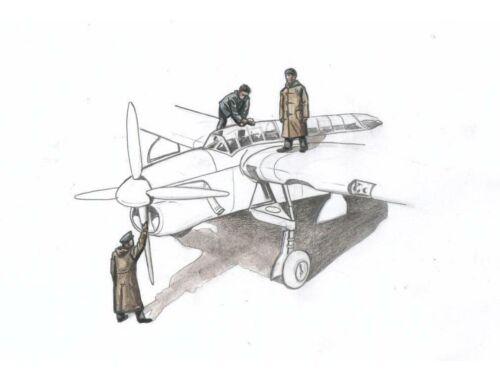 CMK Barracuda Mechanics (3 figures, aboard carrier w/ raincoat) for Sp. Hobby kit 1:72 (F72330)