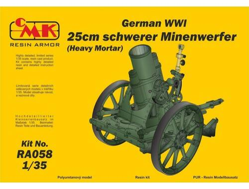 CMK 1/35 German WWI 25cm schwerer Minenwerfer / Heavy Mortar– All Resin kit 1:35 (RA058)