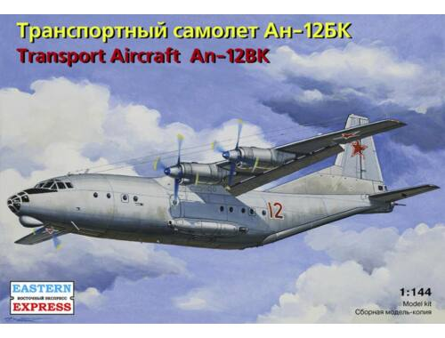 Eastern Express Antonov An-12BK Russian military transpo aircraft 1:144 (14486)