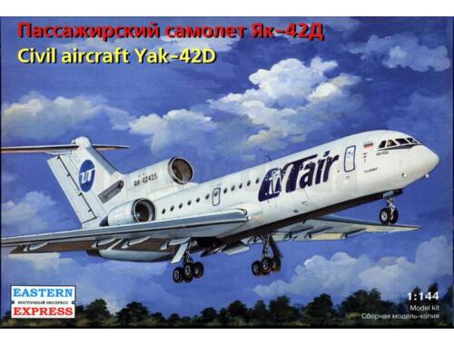 Eastern Express Yakovlev Yak-42D Russian medium-haul airliner,UTair 1:144 (14499)
