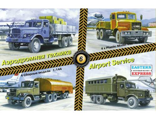 Eastern Express Airport service set No.6 (KrAZ cars) 1:144 (14605)