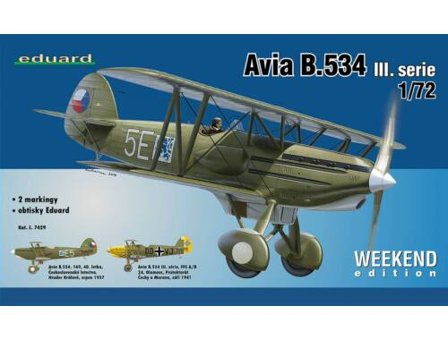 Eduard Avia B-534 III.serie WEEKEND edition 1:48 (8478)