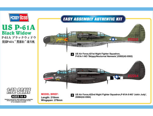 Hobby Boss US P-61A Black Widow 1:72 (87261)