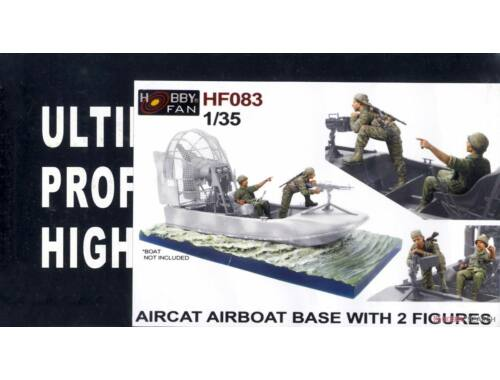 Hobby Fan Aircat Airboat Base with 2 Figures (the boat is not included) 1:35 (HF083)