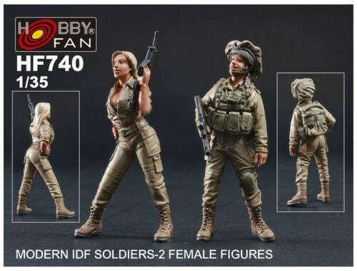 Hobby Fan Modern IDF Soldiers-2 Female Figures 1:35 (HF740)