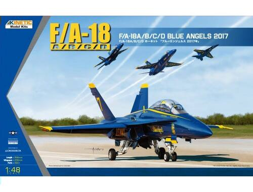 Kinetic USN BLUE ANGLE 2017 F/A-18A/B/C/D 1:48 (48073)