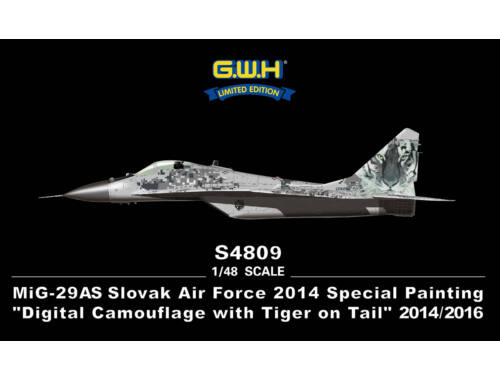 "Lion Roar MiG-29AS Slovak Air Force 2014""Digital Camouflage w.Tiger 1:48 (S4809)"
