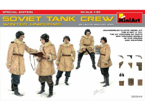 Miniart Soviet Tank Crew (Winter Uniforms)Specia Edition 1:35 (35244)