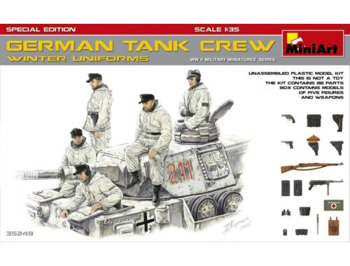 Miniart German Tank Crew (Winter Uniforms)Specia Edition 1:35 (35249)